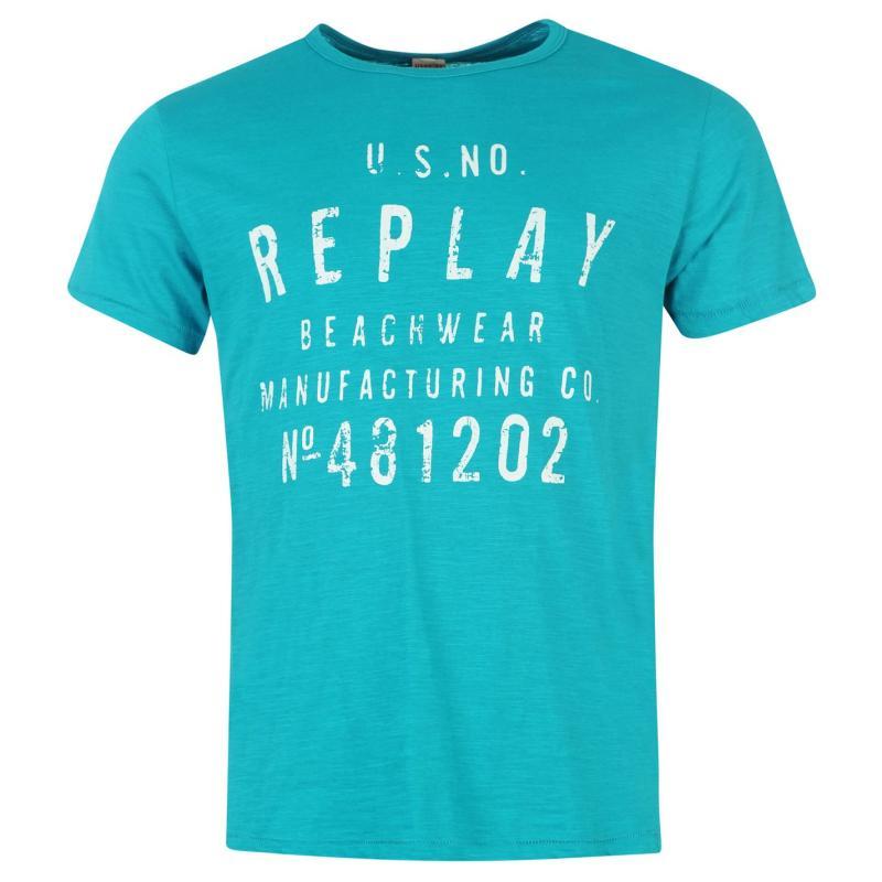 Tričko Replay Beachwear T Shirt Mens Marabella 2