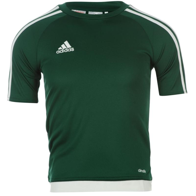 Tričko adidas 3 Stripe Estro T Shirt Junior Boys Col Green