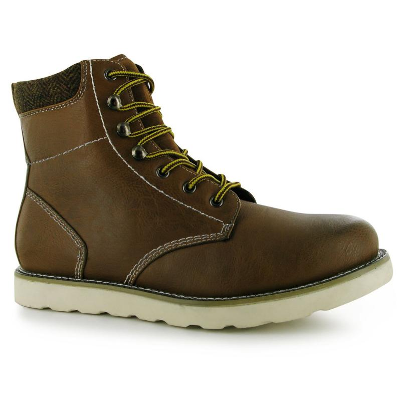 Boty Lee Cooper Heay Twill Mens Boots Tan Brown