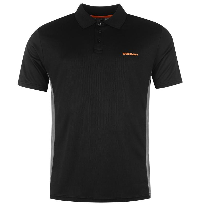 Donnay Poly Polo Shirt Mens Black
