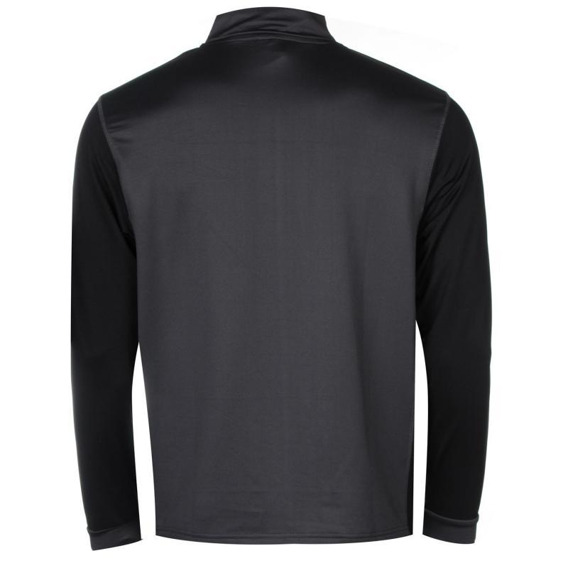 Donnay Quarter Zip Top Mens Charcoal/Black