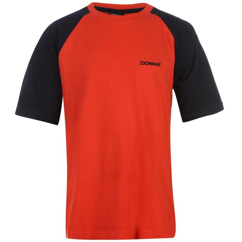 Tričko Donnay Raglan T Shirt Junior Boys Red/Navy