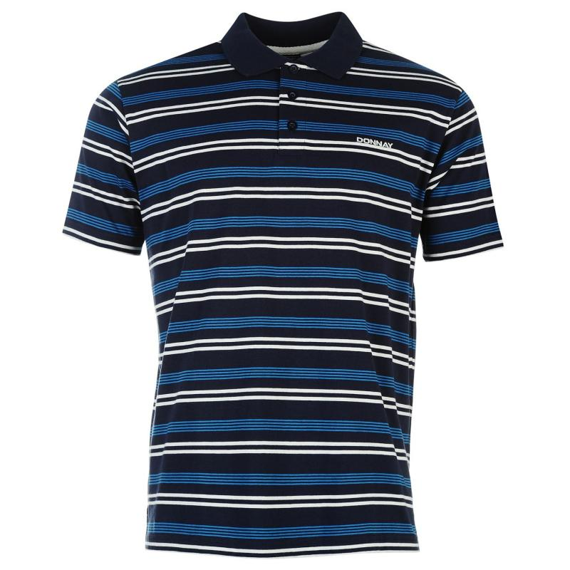Donnay Stripe Polo Mens Navy