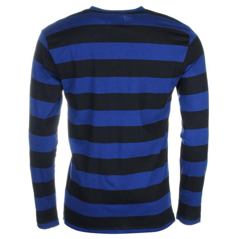 Giorgio Retro Long Sleeve TShirt Mens Blue/Black