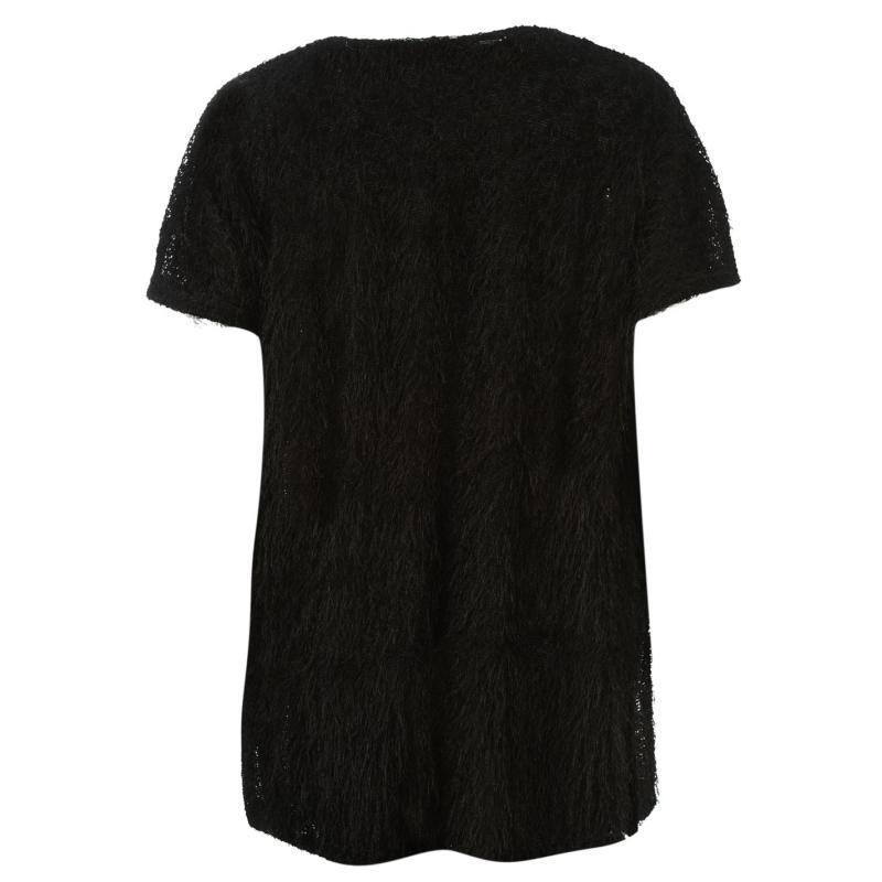 Svetr Noisy May Power Open Knit Cardigan Black
