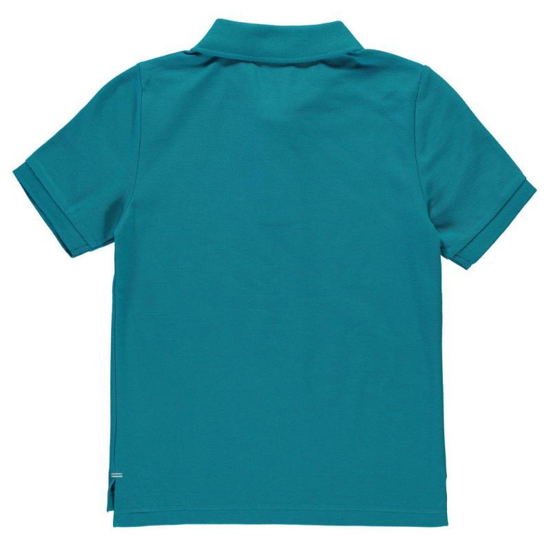 Slazenger Plain Polo Shirt Junior Boys Sky Blue