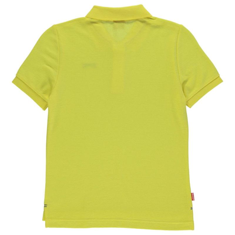 Slazenger Plain Polo Shirt Junior Boys Grey Marl