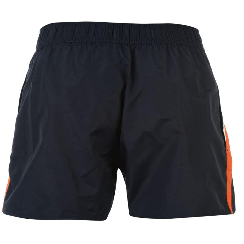 Speedo Retro Leisure Swimming Trunks Mens Navy/Orange