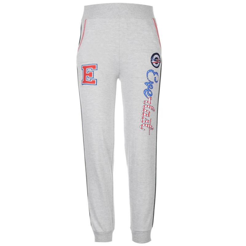 Everlast Star Closed Hem Jogging Bottoms Junior Girls Grey Marl