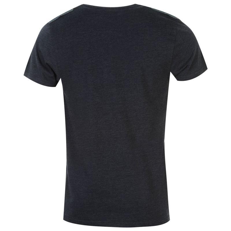 Tričko Lee Cooper Champion Short Sleeve Crew T Shirt Mens Navy