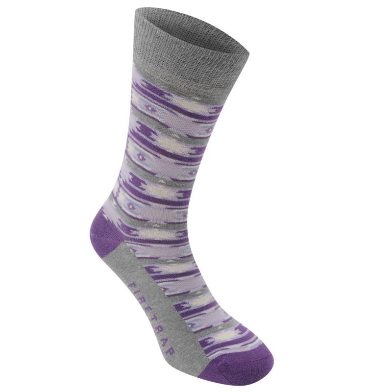 Ponožky Firetrap 1pk Design Ld63 Purple