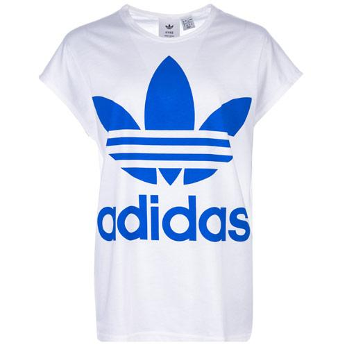 Adidas Originals Womens HYKE Trefoil T-Shirt White