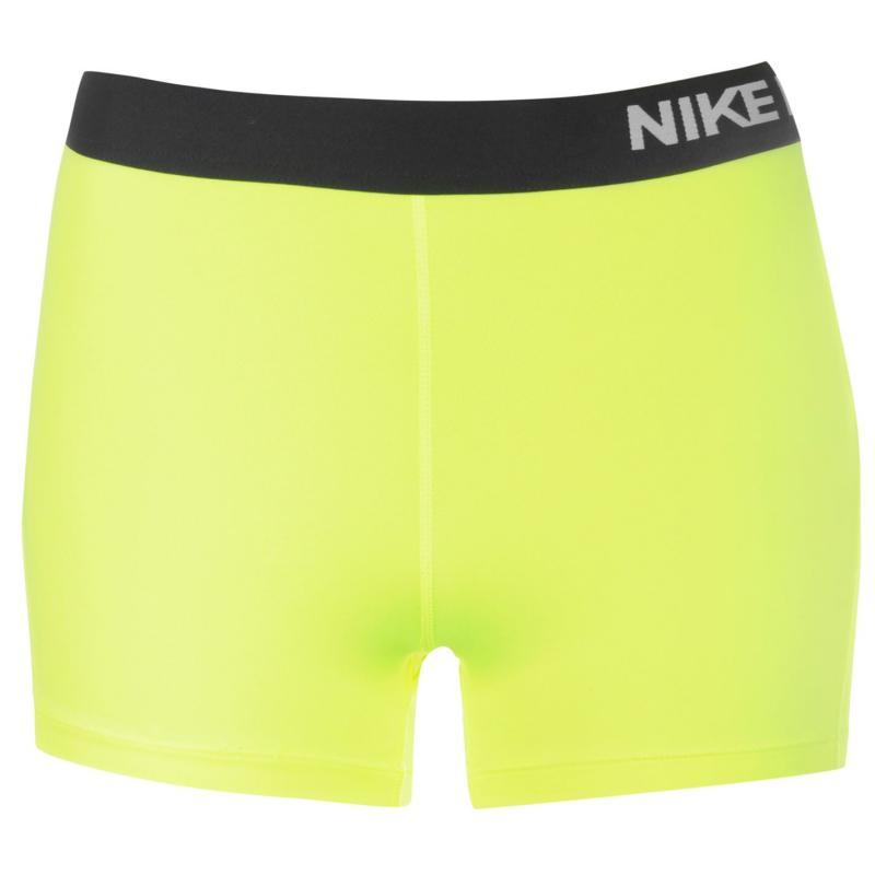 Nike Pro Three Inch Shorts Womens Volt