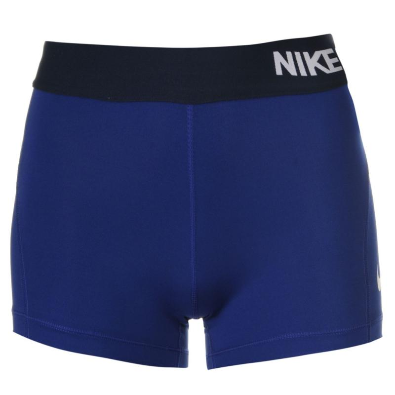 Nike Pro Three Inch Shorts Womens Royal
