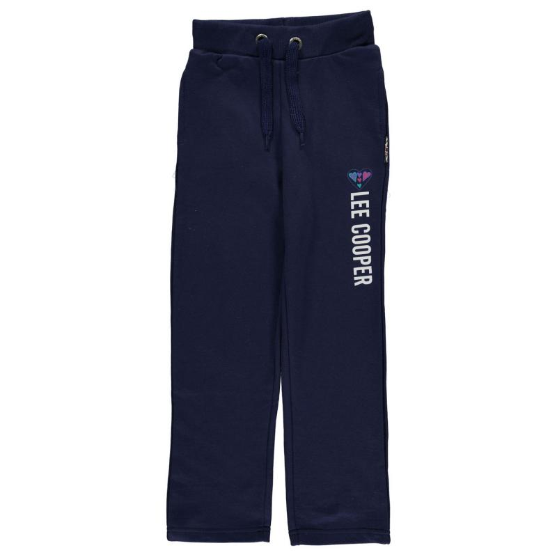 Lee Cooper Classic Closed Hem Jogging Bottoms Girls Navy