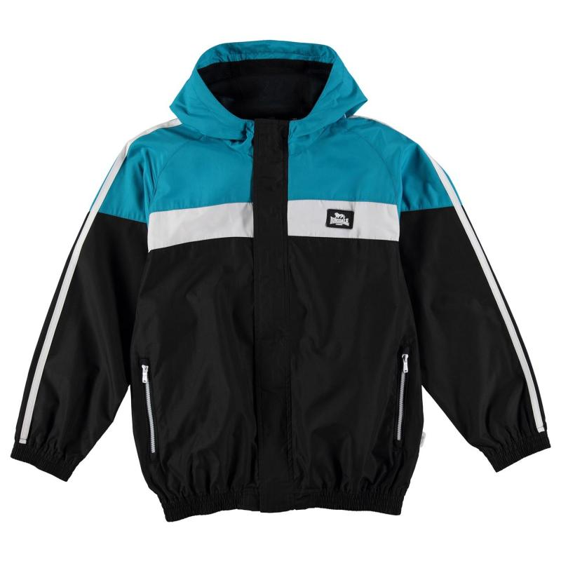 Bunda Lonsdale 2 Stripe Jacket Junior Boys Blk/BrBlue/Wht