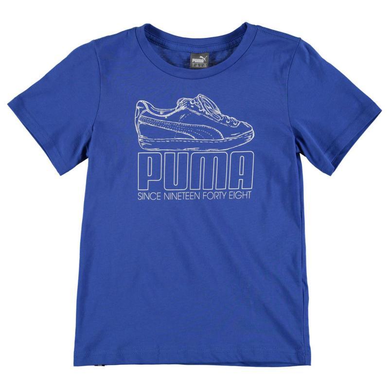 Tričko Puma QTT Trainer T Shirt Junior Boys Team Blue
