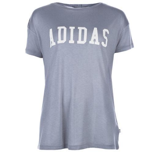 Adidas Originals Womens London Printed Back T-Shirt Grey