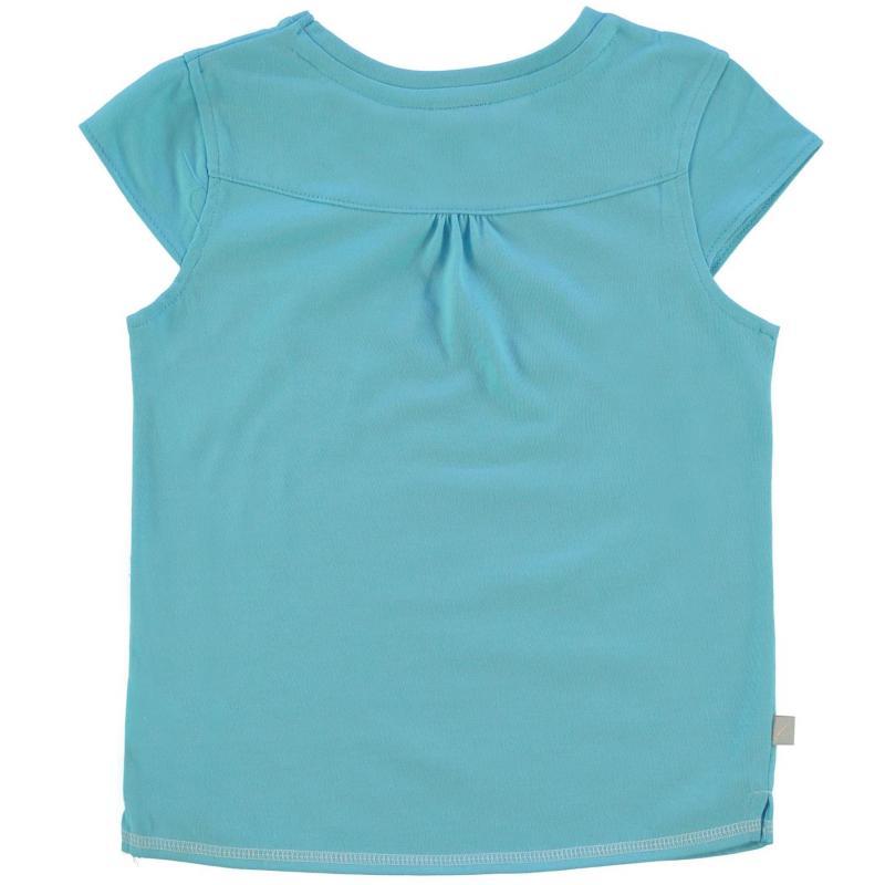 LA Gear Large Logo V Neck TShirt Girls Light Blue