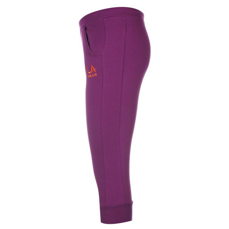 Tepláky LA Gear Three Quarter Jogging Pants Junior Girls Purple