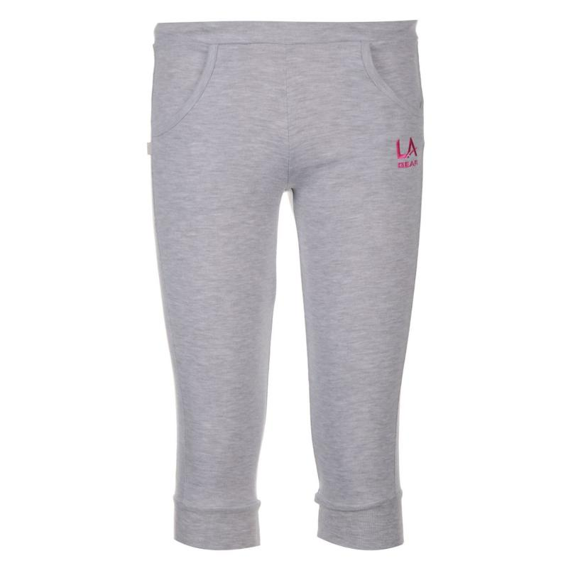 Tepláky LA Gear Three Quarter Jogging Pants Junior Girls Grey...
