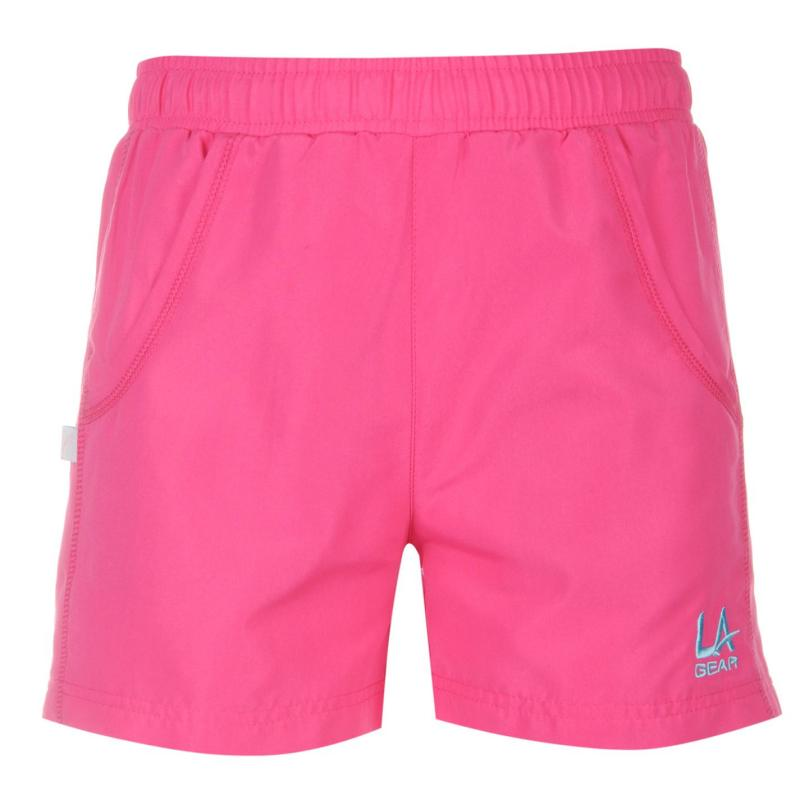 LA Gear Woven Shorts Junior Girls Fuchsia Pink