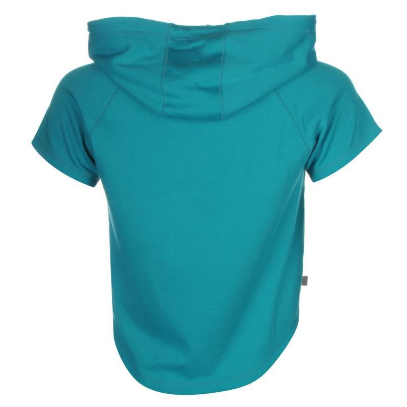 Mikina s kapucí LA Gear Interlock Cap Sleeve Zip Top Womens Pink