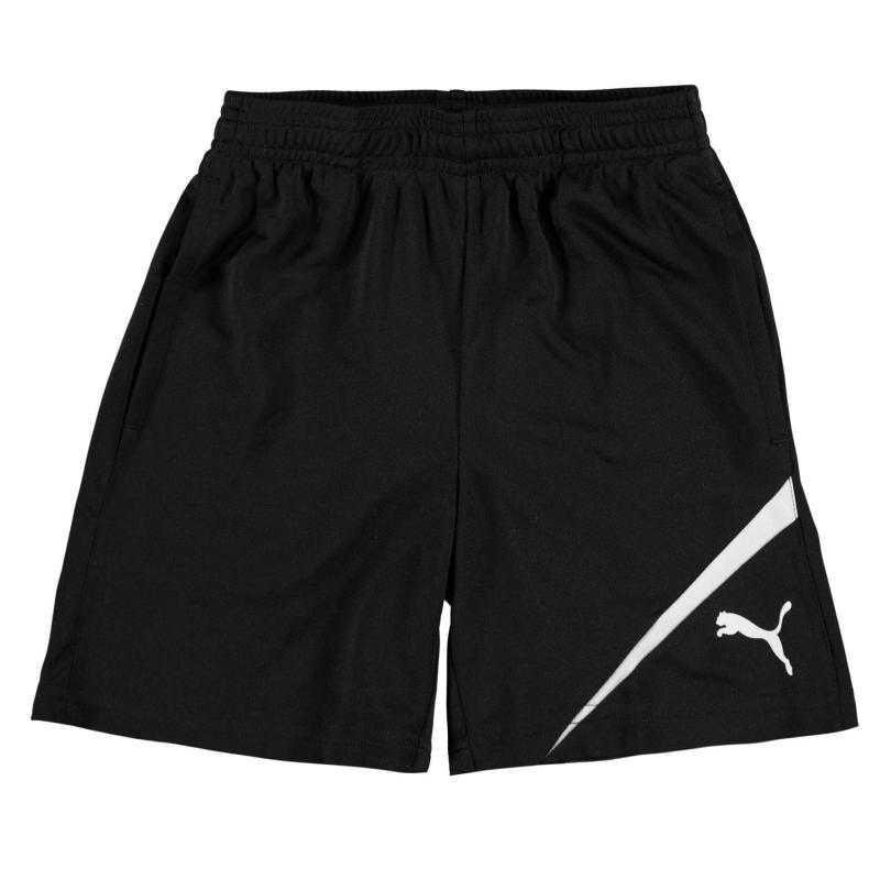 Kraťasy Puma Sport Training Shorts Junior Boys Black/White, Velikost: 11-12 let (LB)
