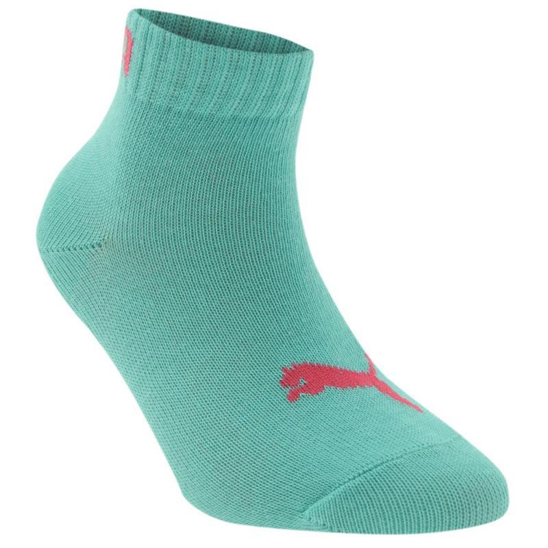 Ponožky Puma Quarter Junior 2 Pack Socks Plum