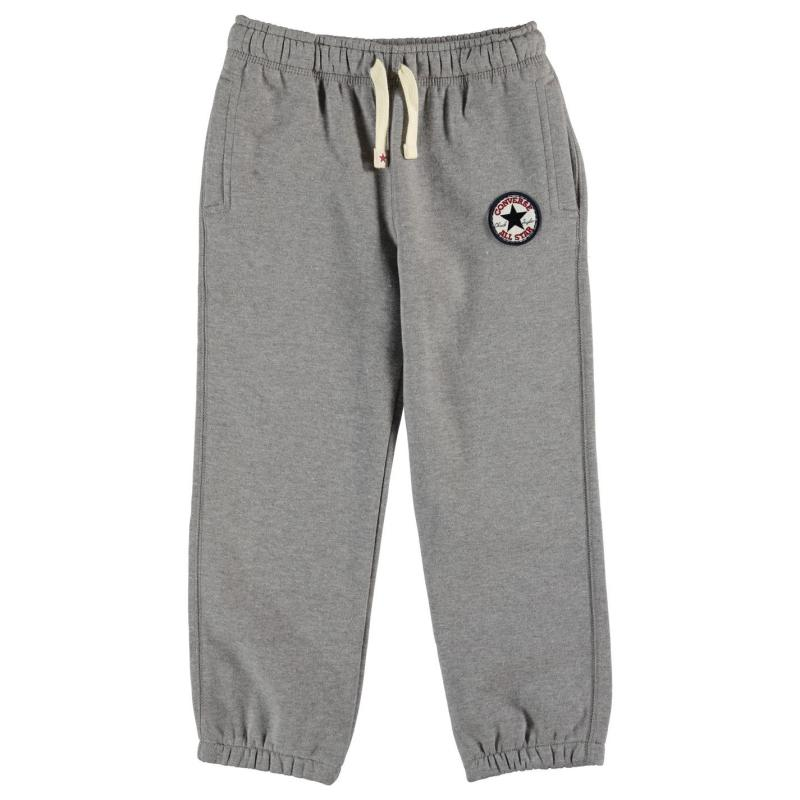 Tepláky Converse Knitted Joggers Grey Heather