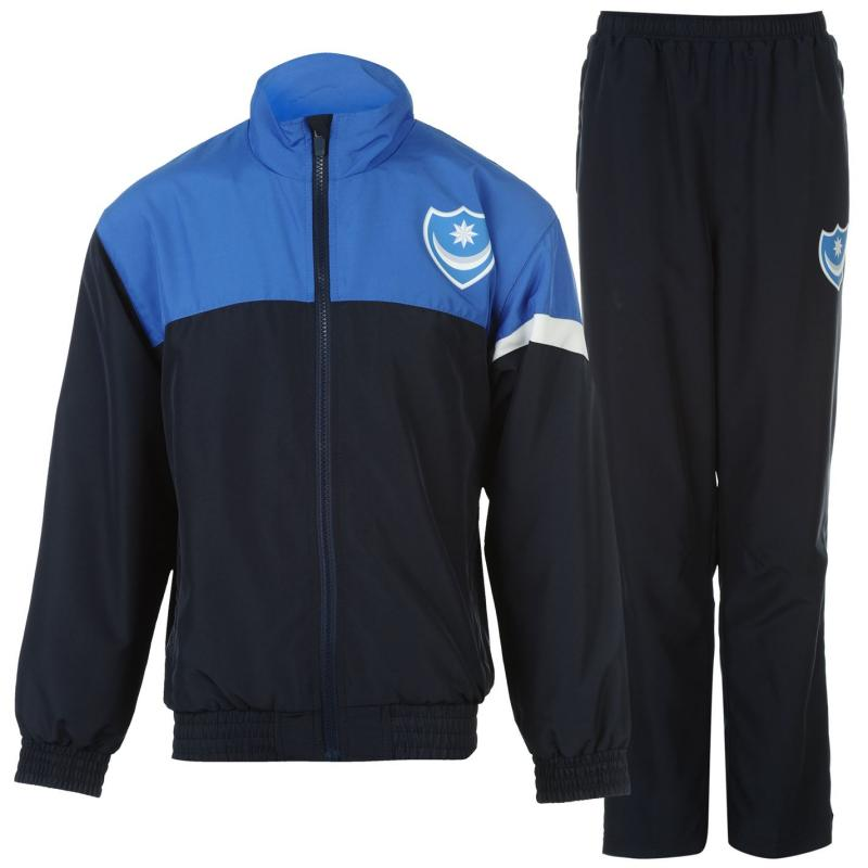 Tepláky Team Portsmouth Club Tracksuit Junior Boys Navy/Blue