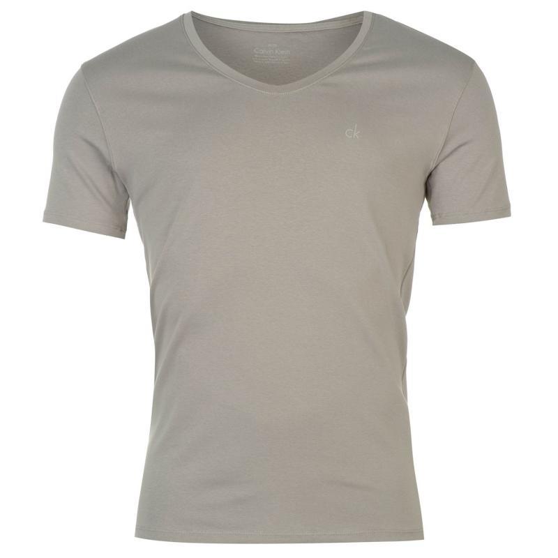 Pyžamo Calvin Klein Short Sleeve Curve Neck Pyjama Top Sea Salt