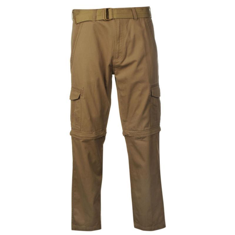 Kalhoty Pierre Cardin Zip Off Cargo Pants Mens Sand, Velikost: W30 R