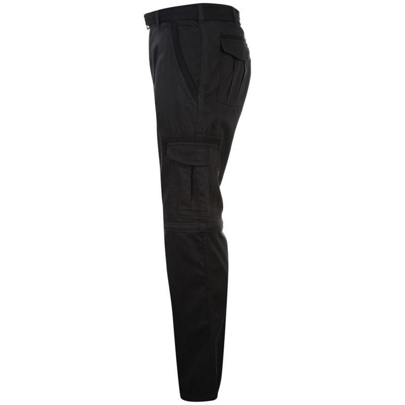 Kalhoty Pierre Cardin Zip Off Cargo Pants Mens Navy, Velikost: W30 R