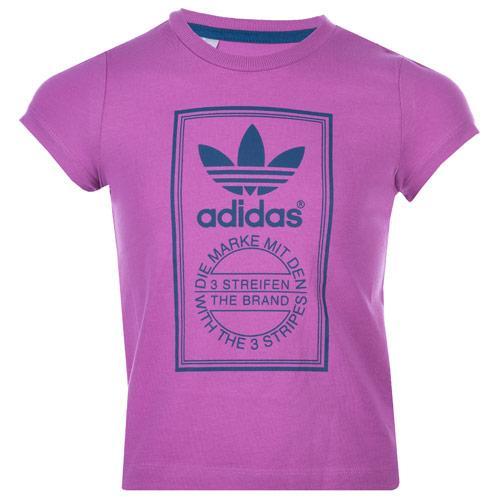 Adidas Originals Infant Girls LK Trefoil T-Shiirt Pink