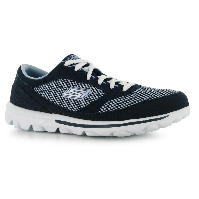 Boty Skechers Go Walk Form Fit Ladies Trainers Navy/Blue, Velikost: UK3 (euro 36)