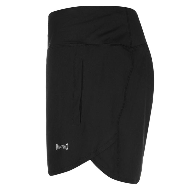 USA Pro Woven Shorts Womens Black