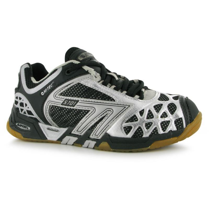 Boty Hi Tec S701 4SYS Ladies Court Shoes Black/Silver