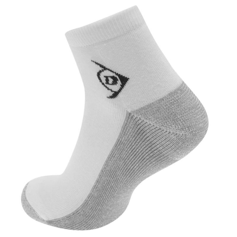 Ponožky Dunlop Aerodry Quarter Length Socks Mens White