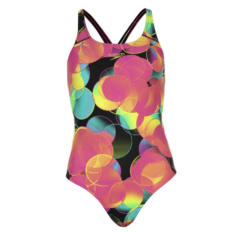 Plavky Speedo Colourbeat All Over Print Swimming Costume Ladies Multi