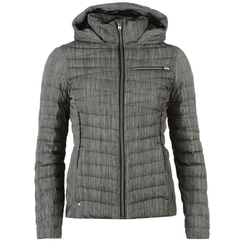 Bunda Spyder Timeless Hooded Jacket Womens Grey, Velikost: 10 (S)