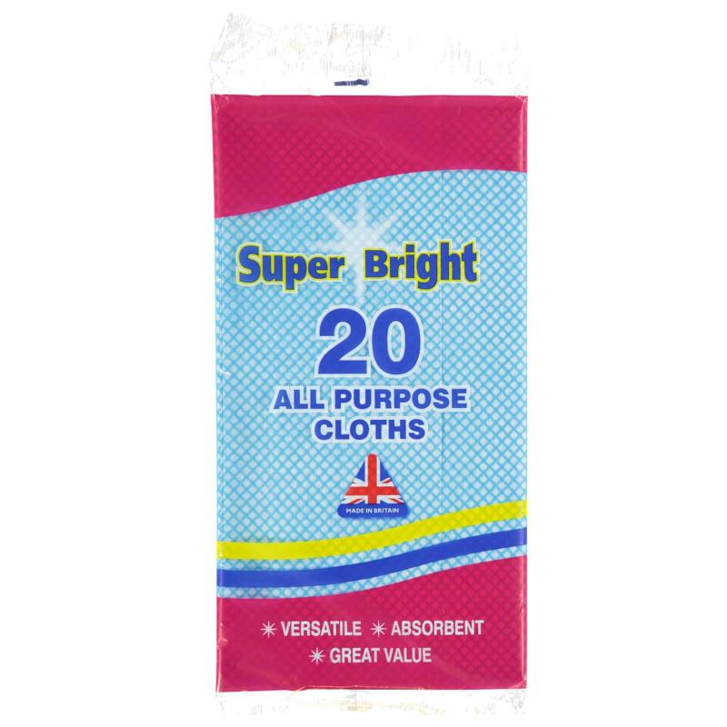 Tílko Mega Value Super Bright 20 Pack All Purpose Cloths Multi