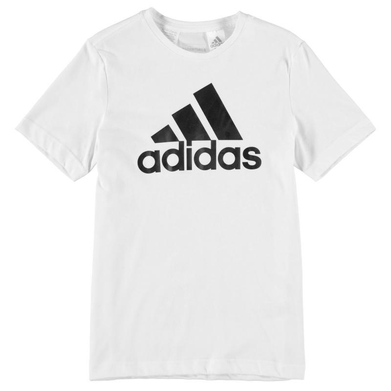 Tričko adidas Essential Logo TShirt Junior Boys White/Black