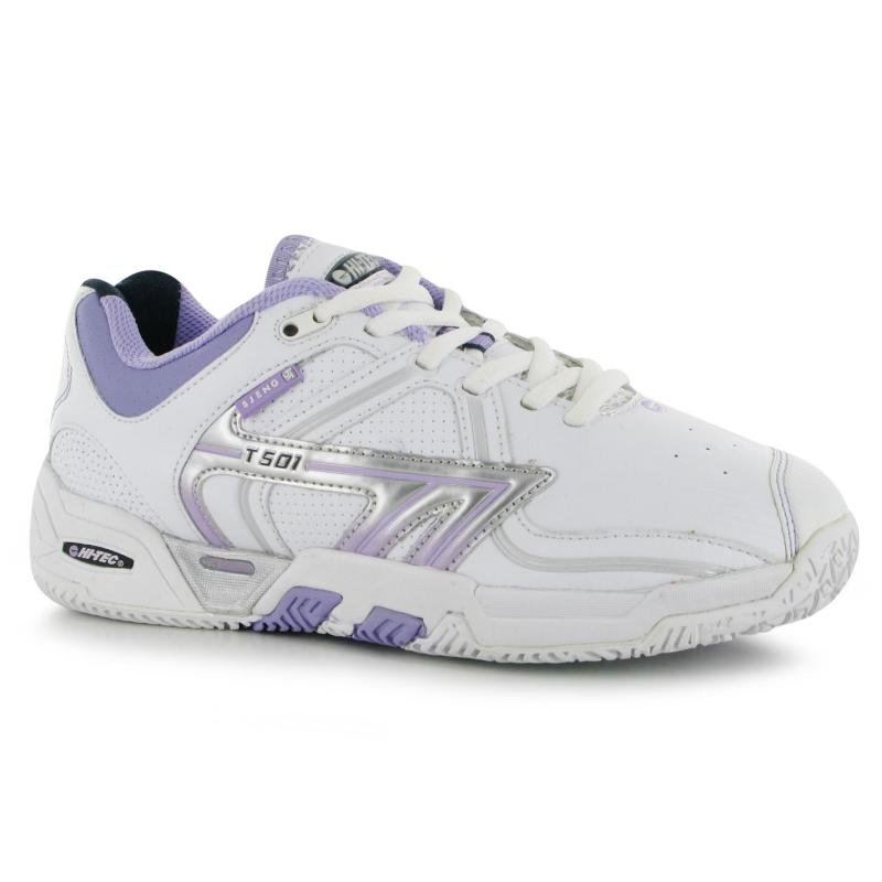 Hi Tec T501 Ladies Tennis Shoes Wht/Iris/Blue