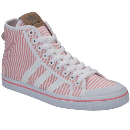 Boty Adidas Originals Womens Honey Mid Trainers Pink white