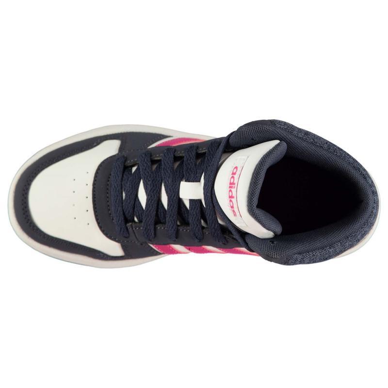 Boty adidas Hoops Mid Top Childrens Trainers Black/Orange, Velikost: UK1 (euro 33)