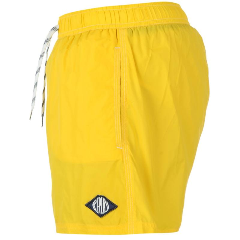 Replay 5 Basic Swim Shorts Mens Yellow