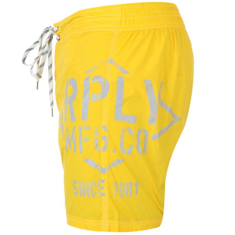 Replay 5 Series Swim Shorts Mens Yellow