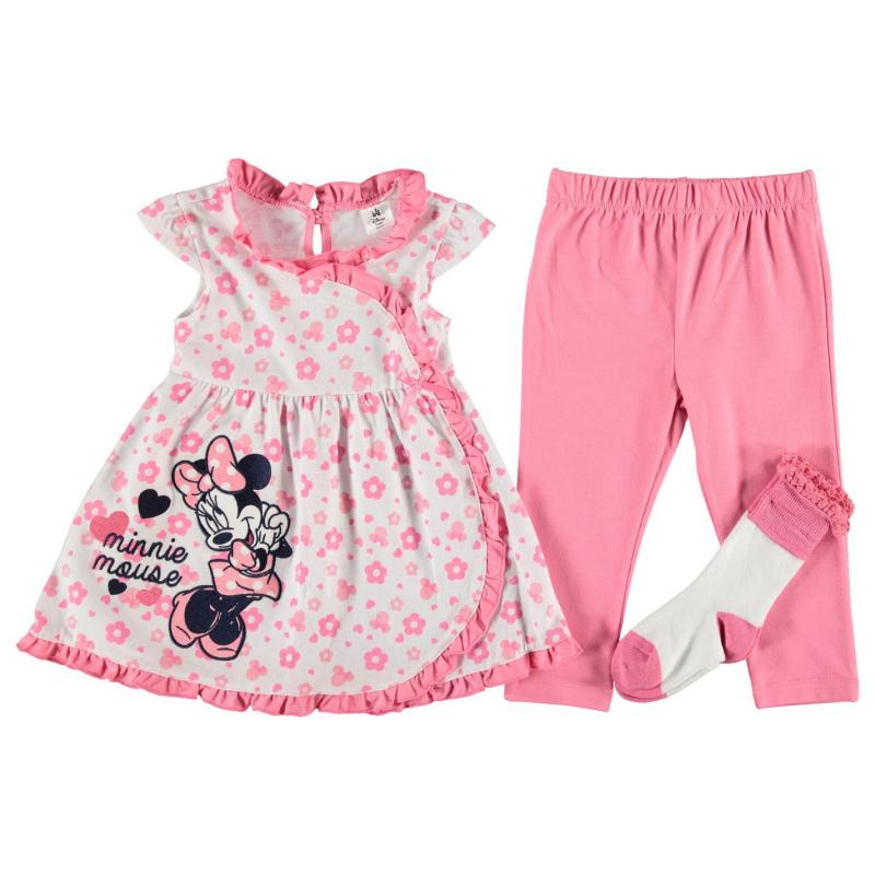 Šaty Character 3 Piece Dress Set Baby Girls Minnie Pink