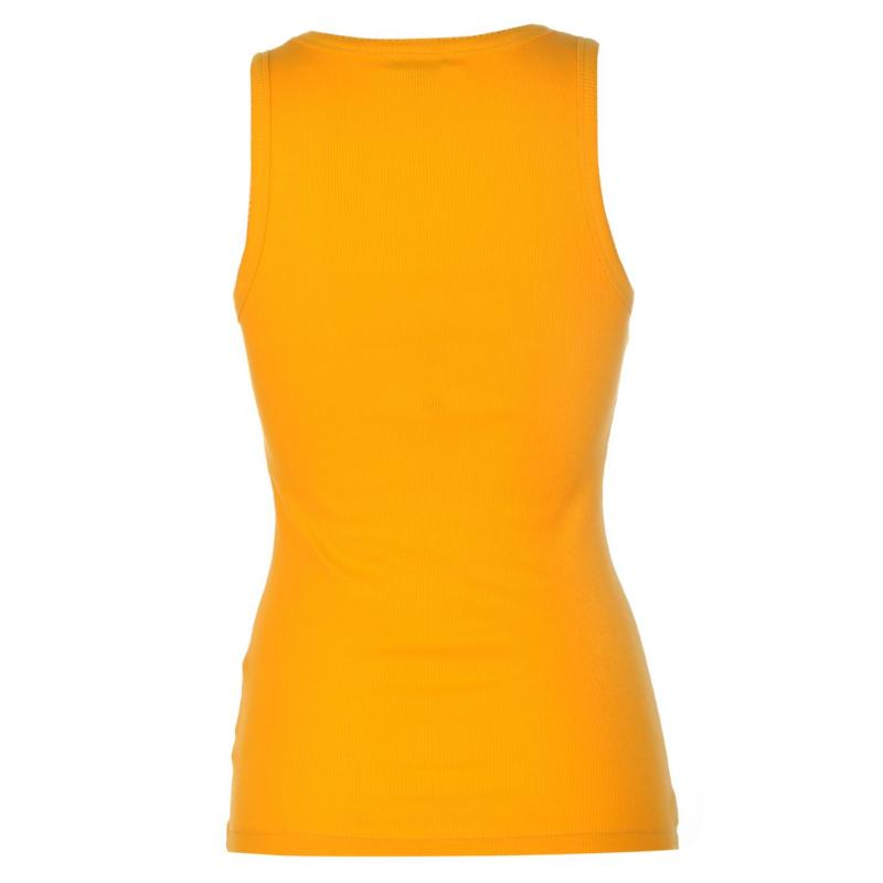 Miso Ribbed Vest Womens Saffron Yellow
